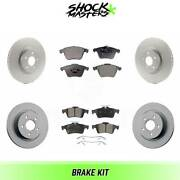 Front And Rear Ceramic Brake Pad And Coated Rotor Kit For 2005-2011 Volvo V50 320mm