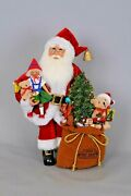 New In Box Karen Didion Originals Toys Galore Santa Figure With Lighted Tree