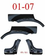 With Holes 01 07 Escape 4pc Dog Leg And Arch Panel Set Upper Ford Mercury Mariner