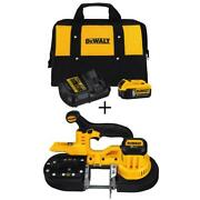 Dewalt Cordless Band Saw With Bonus 20v Battery And Charger Kit 2 Deep Cut New