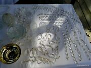 Large Lot Crystal Glass Lamp Parts Crystals Prisms S Arms Prism Chains Bobeche