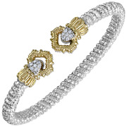 Vahan Sterling Silver And 14k Gold - 0.11cttw Diamonds - 4 Mm Width