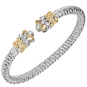 Vahan Sterling Silver And 14k Gold | 0.08cts Of Diamonds | 4mm Width