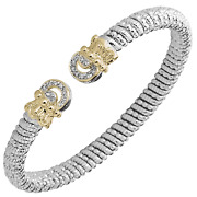 Vahan Sterling Silver And 14k Gold - 0.14cttw Diamonds - 6mm Width
