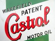 1930and039s Old Castrol Motor Oil Wakefield Patent Porcelain Enamel Sign Board London