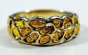 Gold Nugget Menand039s Ring Orocal Rm210nss Genuine Hand Crafted Jewelry