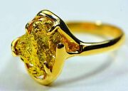 Gold Nugget Ladies Ring Orocal Rl233 Genuine Hand Crafted Jewelry - 14k