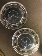 Two Vintage 70s Mercedes-benz Aluminum Hubcaps Fits Other To