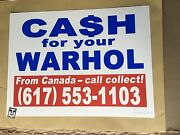 Cfyw Cash For Your Warhol Signed -call Collect Standard Edition- /40 W/ Coa