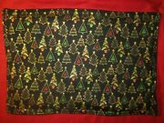 Christmas Tree Decorated Holiday Trees Handmade Fabric Placemats Set Of 4