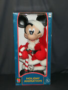 1996 Mickey Mouse Santaand039s Best Animation Disney Animated 20 Figure - New And Rare