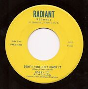 Bobby D And Trinidads Donand039t You Just Know It Upstate Ny Garage 45 On Radiant Hear