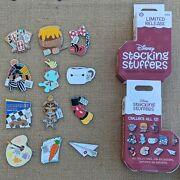 Stocking Stuffers Complete 12 Pin Set 2019 Disney Parks Christmas Holiday Lr