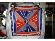 Vintage 1976 Bicentennial Scarf Red White And Blue Acetate Twill Japan 26 X 26