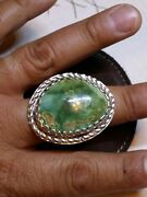 Sterling Silver Stormy Mountain Turquoise Southwest Castellat Menand039s Ring Huge