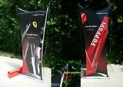 Ferrari Cx Bicycle Collectable Presentation Stand 7and039 Feet Poster Double Side Oem
