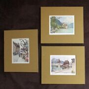 Set Of Three Vintage Matted Watercolor Paintings - Nicholas Markovitch Wow