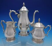 Prelude By International Sterling Silver 3 Piece Coffee Set Vintage 4427