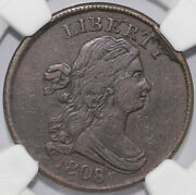 1808/7 1/2c Draped Bust Half Cent Ngc Xf Details Scratched