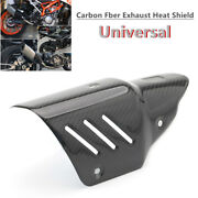 Universal Motorcycle Exhaust Pipe Carbon Fiber Cover Protector Heat Shield Parts