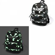 A Bathing Ape Backpack City Camo Bape Day Pack Glows In The Dark From Japan Ems