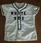 Vintage 1940s White Sox Rawlings Baseball Jersey Chicago History Advertise Sign
