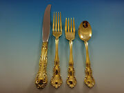 Old Atlanta Gold By Wallace Sterling Silver Flatware Service 8 Set Vermeil 32 Pc