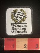 Vintage Car Race Checkered Flag Winners Serving Winners Auto Related Patch 99u5