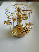 Christmas Carousel 24k Gold Plated Speening With Sound Decorations