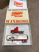 Winross Ford Trucks In The 70's Diecast Tractor Trailer 1/64 New In Box