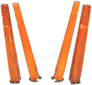 4 Old Table Legs 17 Salvaged Furniture Parts Angled Modern Cut Square Hand Gh