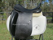 17.5 County Fusion Xtr Black Dressage Saddle- Wool Flocked-wide Tree-mint Cond.