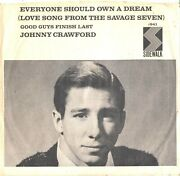 Johnny Crawford-rarest Picture Sleeve Only-everyone Should Own A Dream--ps-pic