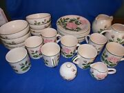 Victorian Rose Philippines Dinnerware 28 Pc. Hostess/luncheon Set Svc. For 8