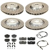 Genuine Front And Rear Vented And Drilled Disc Brake Rotors For Bmw F06 F10 F12 F13