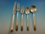 Silver Flutes By Towle Sterling Silver Flatware Set For 6 Service 30 Pieces