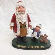Signed Limited Edition David Frykman Santa And Me 10 Figurine Df2015tb