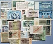 Germany Lot Near 100 Banknotes 1904 - 1923 Weimar Rare Xf No Reserve