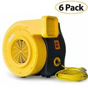 Lot Of 6 Zoom Xlt 3 Hp Inflatable Bounce House Air Pump Blower 1950 Cfm Airflow