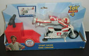Toy Story 4 Duke Caboom Stunt Racer Motorcycle Launch And Race New