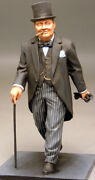 Painted Tin Toy Soldier Winston Churchill 90mm 1/20