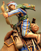 Painted Tin Toy Soldier Arab Palmyra Soldier On A Camel With A Bow 54mm 1/32
