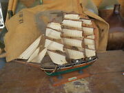 Antique Sketch Boat Antique Sailboat Fishing Naval Cutty Sark 4 Mats Caravelle