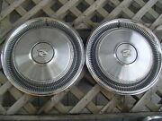Two 1970 70 Cadillac Cady Fleetwood Deville Hubcaps Wheel Cover Antique Vintage