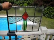 Rare Art Nouveau English Sidelights Stained Glass Window