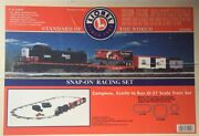 Snap On Racing Lionel 0-27 Scale Electric Train Set/with Billboard/add Car 2001