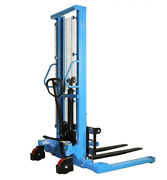Manual Forklifts Pallet Stackers Hand Pump Operated Lift Trucks 63lift 2200lb