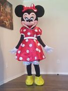 Minnie Mouse Mascot Costume Christmas Full Outfit Party Adult Size