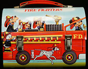 Near Mint Old Stock Disney Fire Fighters Dome Lunch Box No Thermos Aladdin 1980