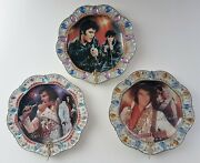 Elvis Forever The King 3 Collectors Plates Tcb Limited Ed Bradford Exchange 2006
